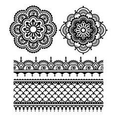 Mehndi, Indische Henna tatoeage naadloze patroon — Stockillustratie #73032305
