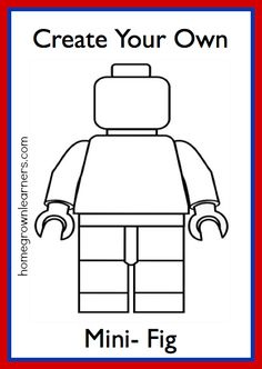 Lego Freebies: Create Your Own LEGO Mini-Figure Printable! #homeschool