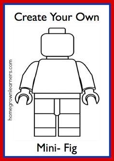 Lego Freebies: Create Your Own LEGO Mini-Figure Printable! #homeschool
