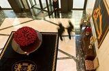 a magical flower arrangement in the lobby of Breidenbacher Hof
