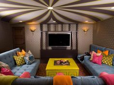Circus-Inspired Family Room | HGTVRemodels.com