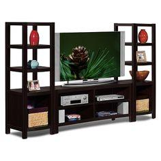 American Signature Furniture   Townsend Entertainment Wall Units 3 Pc.  Entertainment Wall Unit $199.00