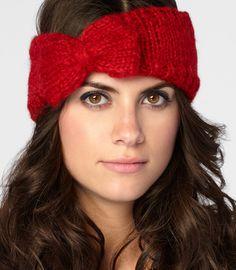 Cozy Knit Bow Headband