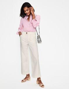 The Camberwell Cropped Jeans - Ecru