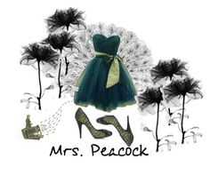"""""""Mrs. Peacock"""" by autumnshade ❤ liked on Polyvore featuring Pedro García and Study"""