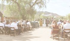 Ceremony by pepper tree. Los Peñasquitos Ranch House.
