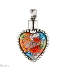 Steel Urn Cremation Pendant Necklace Keepsake Jewelry Ash Holder w/ Funnel #CremationUrnJewelry Z