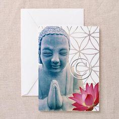 Blissful Buddha Greeting Card by DesignDivergent on Etsy, $6.50