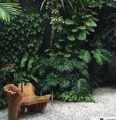 30 Top Tropical Garden Ideas - Home/Decor/Diy/Design Tropical Garden Design, Tropical Backyard, Backyard Garden Design, Tropical Landscaping, Tropical Plants, Backyard Landscaping, Tropical Gardens, Balinese Garden, Bali Garden