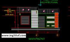 منزل مع مخططات أوتوكاد للواجهة الحديثة اوتوكاد dwg