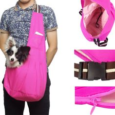 Outward Hound New Pet Sling-style carrier Dog Cat sling Bag -Fashion Pink Small Size - http://www.thepuppy.org/outward-hound-new-pet-sling-style-carrier-dog-cat-sling-bag-fashion-pink-small-size/