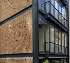 Bricks Steel Glass facade Noxx Apartmanı