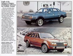 1983 AMC Eagle sedan and station wagon Hudson Car, Automobile, Ford, American Motors, Jeep Models, Victoria, Four Wheel Drive, Road Runner, Station Wagon