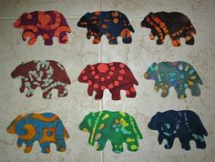 $10.95       Set of 9  Lodge Cabin Bear Quilting Clothing by MarsyesAppliques