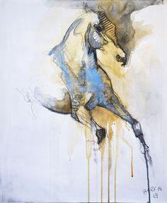 """Saatchi Art Artist Benedicte Gele; Painting, """"Nu Equin 3T"""" #art (Woolf)"""
