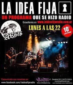 ARSIS en La Idea Fija Radio 22 hs. grandes novedades!! ARSIS cierra el ciclo ¨Anclados al Cosmos¨ http://www.laideafijaradio.com.ar/el-programa