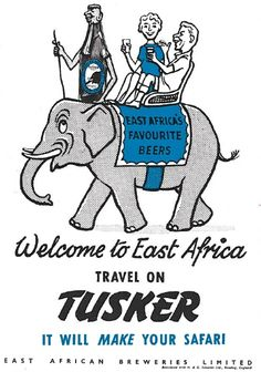 East Africa Tusker Ad 1962