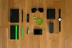 Neon green and black