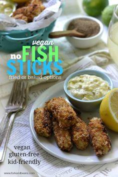 """Vegan """"Fish"""" Sticks #glutenfree #vegan - Fork & Beans"""