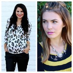 The Shopping Bag was featured on The Beauty Mark! We love how Hillary styles one of our favorites, the Gisselle Crystal Statement Necklace, and Courtney styles the soft and stylish Leopard Loose Knit Top with her adorable baby bump.  Shop their looks at www.ShopTheShoppingBag.com