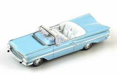 1/43 Scale 1959 Chevrolet Impala Convertible diecast model in blue by Spark!