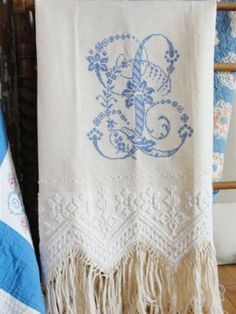 EMBROIDERED ANTIQUE LINENS Can't ever have enough!