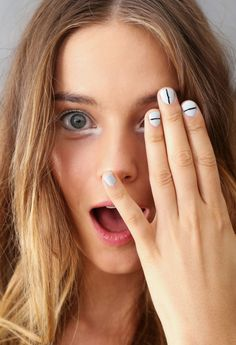 Trend Spotting: Striped Nails Are a THING at New York Fashion Week