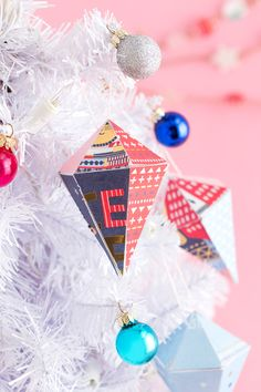 3 Easy Holiday Decor DIYs Made from Repurposed Cards via Brit + Co