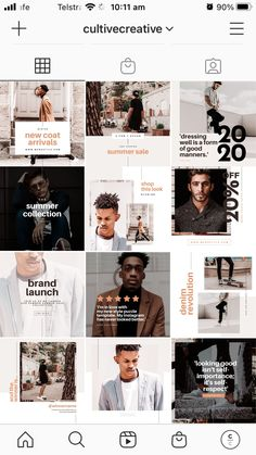 $25 · Add swag to your brand's social media profile pages with the Men's Fashion Social Feed Template! This dapper set of 30 custom designs will help you strut your stuff on social with a masculine, stately aesthetic. Using this fully-customizable Canva Template, create cohesive content that aligns perfectly to your brand with ease. #instagramtemplate #instagrampost #instagramideas Instagram Feed, Instagram Posts, Instagram Post Template, Social Stories, Dapper, Style Me, Custom Design, Swag, Profile