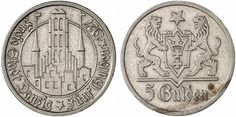 z okresu Wolnego Miasta Gdańska / from the Free City of period Danzig, World Coins, Period, Personalized Items, City, Free, Inspiration, History, Poland