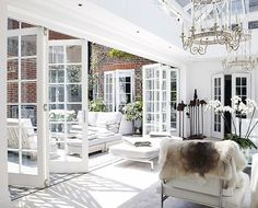 Looking for new trending french door ideas? Find 100 pictures of the very best french door ideas from top designers. Indoor Outdoor Living, Outdoor Living Areas, Outdoor Rooms, Living Spaces, Style At Home, French Style House, Patio Interior, Interior Design, French Interior