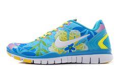 Ice Blue White Lemon Yellow Nike Free Tr Fit Women\u0026#39;s Training Shoes