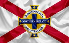 Download wallpapers Northern Ireland national football team, emblem, logo, football federation, flag, Europe, Northern Ireland flag, football, World Cup