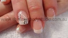 Gel Nails. French Nails. Wedding Nails. Bridal Nails. Glitter Nail Art.