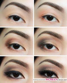 Макияж азиатских глаз