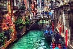 In the canals of Venice.