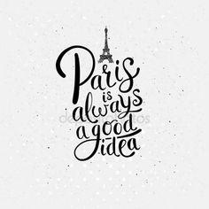 París es siempre un buen concepto de la Idea en de blanco Ilustración De Stock