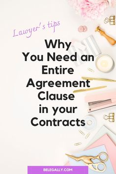 The Entire Agreement clause is a typical clause in many kinds of agreements, but it is a very important one to have. Read why you shouldn't ignore it! Business Tips, Online Business, Contract Law, Community Building, Blog Tips, Entrepreneur, Reading, Reading Books