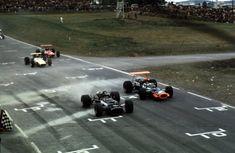 View high-resolution motorsport photography at United States GP from an extensive 1968 Formula 1 racing archive. Aston Martin, Bristol, Bruce Mclaren, Dan Gurney, Jackie Stewart, Watkins Glen, Aerial View, Formula 1, Grand Prix
