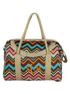 Multi-Color Lindy Chevron Daytripper Tote #34371 - Wholesale Accessory Market
