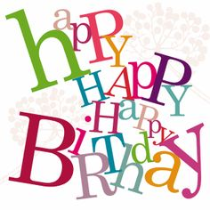 #happybirthday 'Happy Happy Happy Birthday' ...our happiest card! Part of the Tumble collection. 15 x 15 cm greetings card. 280 gsm thick. FSC approved. Foiled letters. White envelope. Very stylish. £2.49 http://cardsgalore.co.uk/index.php/cards/by-collection/tumble/happy-happy-happy-birthday.html . Image Copyright Cards Galore