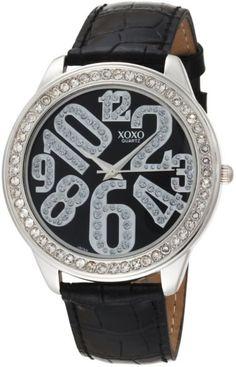 XOXO Women's XO3183 Black Dial Black Crocodile Genuine Leather Watch in UAE | Souq