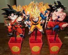 Centro De Mesa Vengadores-dragon Ball-sombies-cars Y Mas - $ 45,00 ...