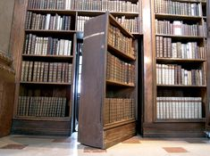 Beautiful old bookshelf passage: | 31 Beautiful Hidden Rooms And Secret Passages