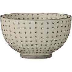 Bloomingville Carla - Grey Dot Bowl (17 CAD) ❤ liked on Polyvore featuring home, kitchen & dining, serveware, grey, polka dot bowl, bloomingville, polka dot tableware, grey bowl and gray bowl