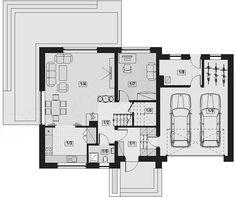 Projekt domu Lisandra 2M 122,9 m2 - koszt budowy - EXTRADOM Malaga, Floor Plans, House, House 2, Architecture, Home, Homes, Floor Plan Drawing, Houses