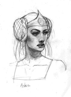 Achren, by Justin Kunz (http://www.justinkunz.com/). ~~ Beautiful as she is evil, Achren was once Queen of Prydain. She lent Arawn his powers of enchantment. Now betrayed by the Death-Lord, she menaces the companions and the Sons of Don, striving to regain her dominion.