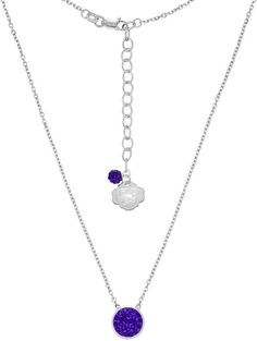 Kohl's Kansas State Wildcats Sterling Silver Crystal Disc Necklace