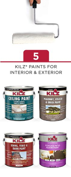 No Matter How Tough The Home Improvement Project, KILZ Has The Perfect  Product For You. Explore Their Line Of Interior And Exterior Primers, ...