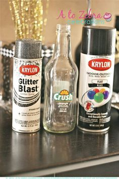 Party deco ideas. One of the uses repurposed bottles; nice idea for the party on a budget and to get your craft fixed and/or your family involved.  - AGlez
